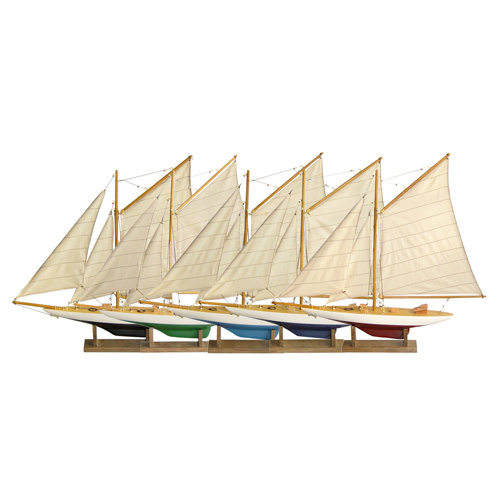 Set of 5 Mini Pond Yachts