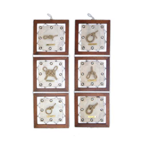 CANVAS KNOTS FRAME WALL HANGING
