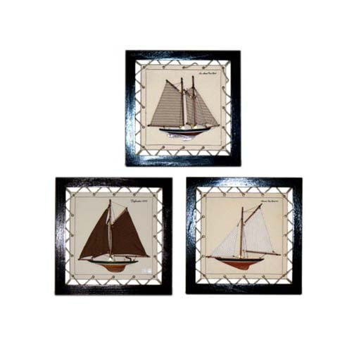 CANVAS FRAME W/BOAT