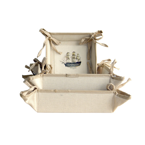 Nautical Canvas Service Tray S/3