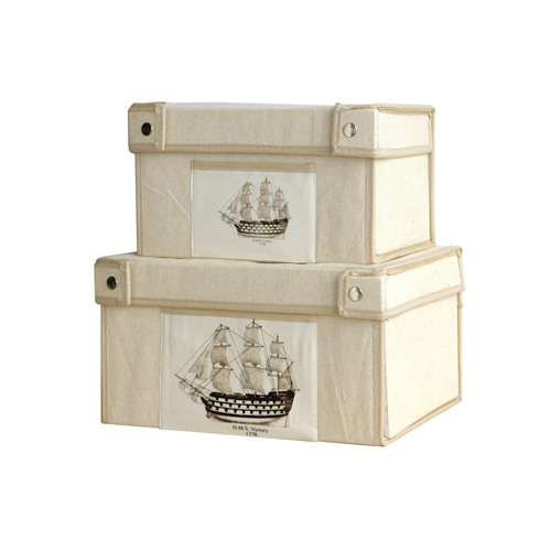 Nautical Canvas Box S/3