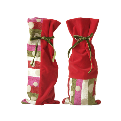 Holiday Celebrate Wine Bag, S/2