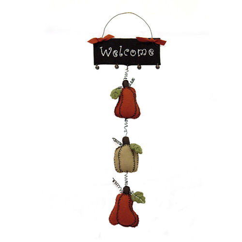 WELCOME PUMPKIN HANGING ORNAMENT