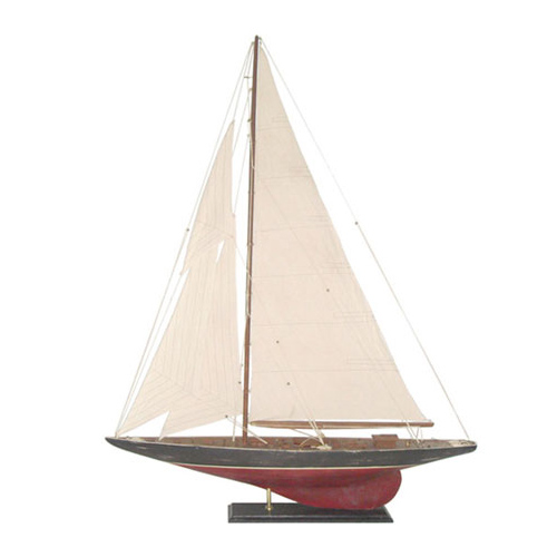 Wooden Rustic Sail Boat