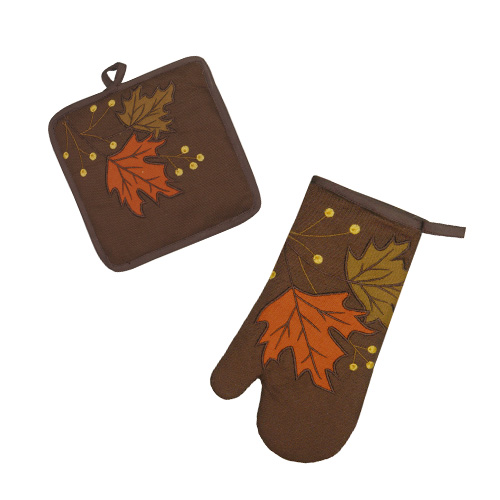 LEAVES &BERRY HOT MAT/OVEN GLOVE