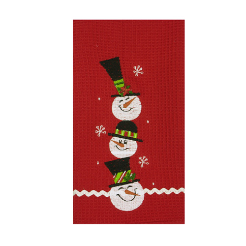 Happy Family Snowman Towel
