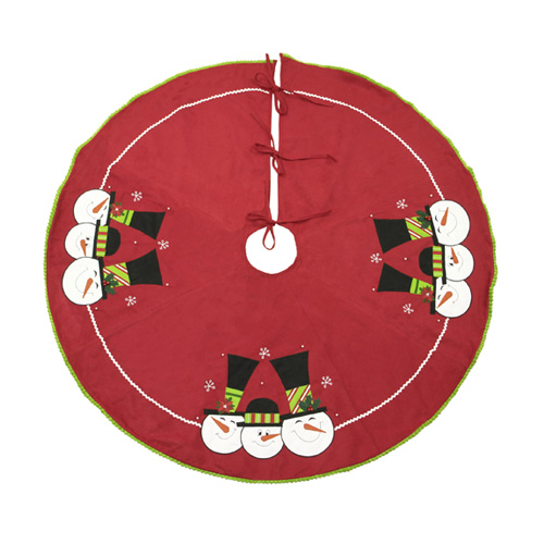 Happy Family Snowman Tree Skirt