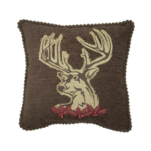 Buck Christmas Pillow